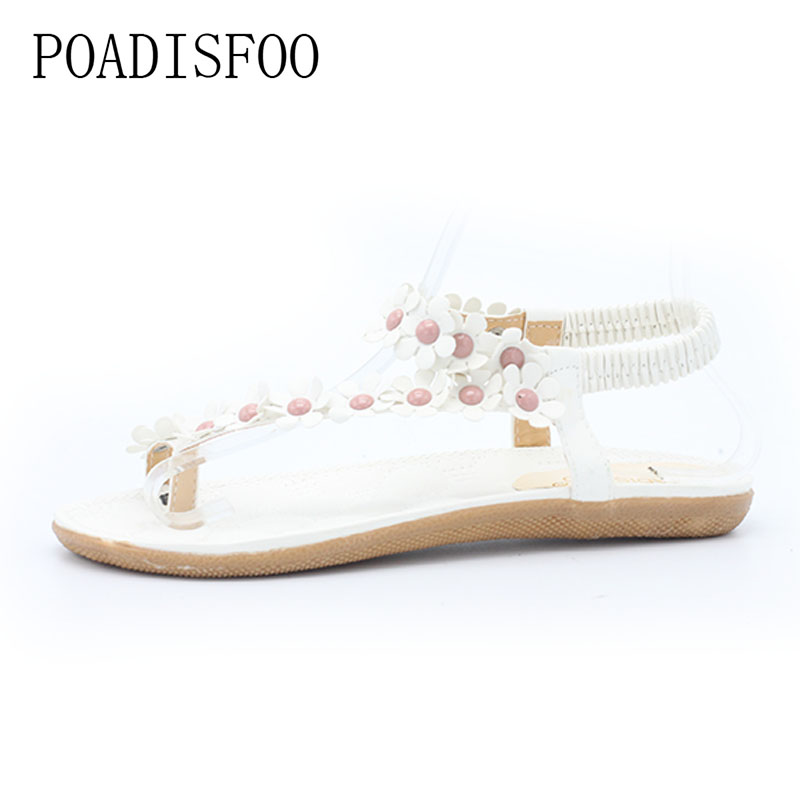 8135faf34f35  C   H 2017 New Summer Bohemian Sandals Shoes Flexible Flat Shoes With  Sunflower Flat Slippers Sandals for Women .DFGD 669-in Women s Sandals from  Shoes on ...
