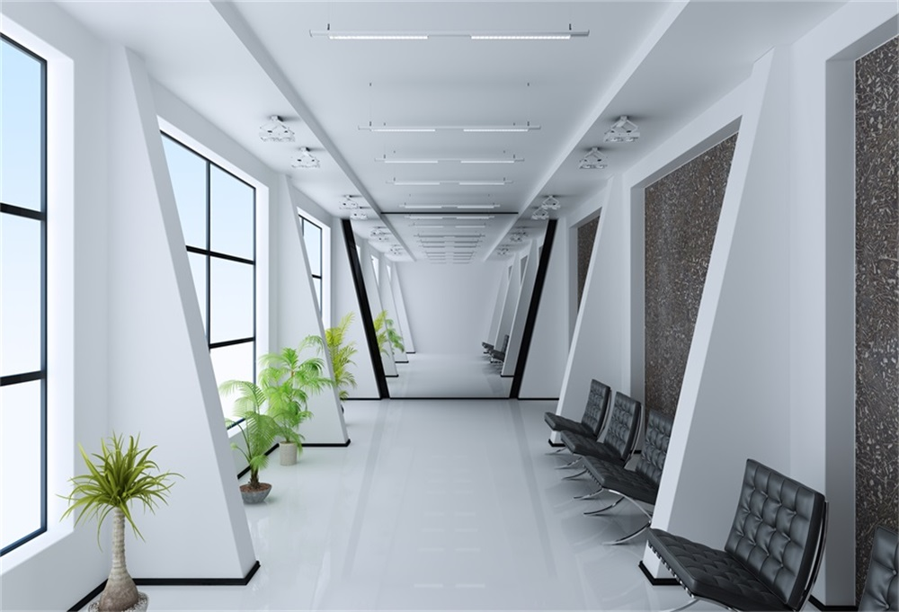 room waiting window studio corridor interior backgrounds backdrops light sofa laeacco customized zoom background