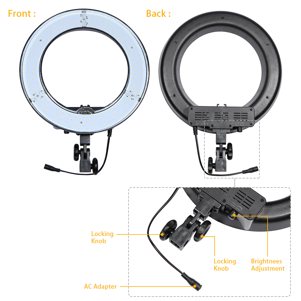 RL 12 12 \'\'180 stücke Lampe LED Video Ring Licht 5500 Karat ...