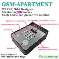 Внутренней связи GSM для экстренной помощи средство открытия шлюза контроллера доступа и обслуживание помогают вызова dc12v Потребляемая мощн