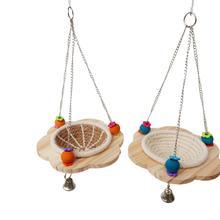 Хлопок Веревка Птичье гнездышко Попугай Игрушка разведение гнездо попугай подвесная кровать многофункциональные игрушки
