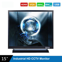 17 Inch 1280X1024 HD CCTV Monitor with Metal Shell HDMI VGA AV BNC Connector for PC Multimedia Screen Display Microscope etc