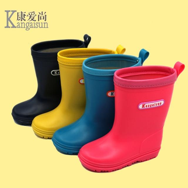 fc5b463a4931 KANGAISUN Kids Rainboots New Design Boys Girls Antiskid Wellies Mid-Calf  Low-heeled Water Shoes Children Pupil Thicken Rain Boot