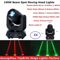 2Pcs/Lot Beam LED Stage Lights 150W White LED Moving Head Beam Lights Super Bright DMX512 Control Professional Led Stage Light|Stage Lighting Effect| |  -