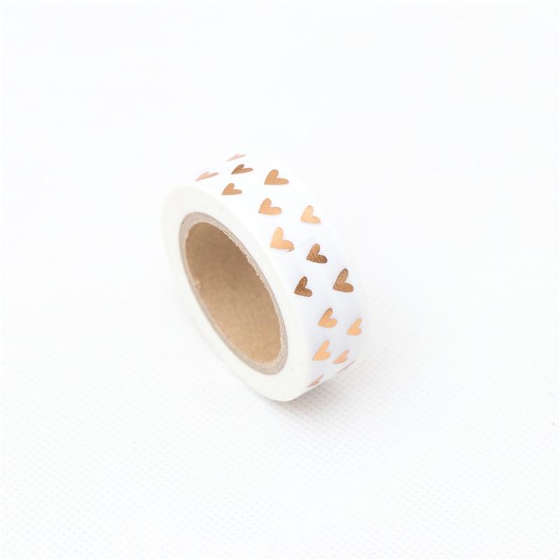 1.5cm*10m Loving Gilding Washi Tape Adhesive Tape DIY Scrapbooking Sticker Label Craft Masking Tape
