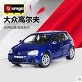 VW Golf Bburago 1:18 Оригинальный сплав автомобиль модели Игрушка Volkswagen Классические автомобили Синий Быстрый & Furious подарок На День Рождения