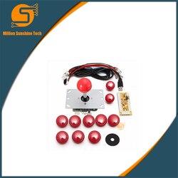 DIY uchwyt Arcade zestaw zestawy wymiana część kabel USB enkodera wyżywienie PC Joystick przyciski 4 kolory