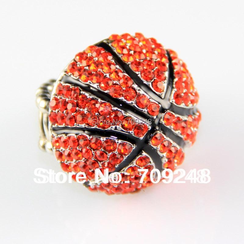 fashion rhinestone basketball ring basketball stretch