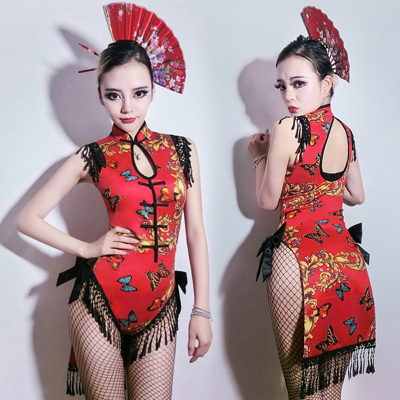 Jazz Costume Jumpsuit Modern Dance Costume Oriental Female Singer Sexy Holographic Womens Clothing Nightclub Bodysuit DL2812