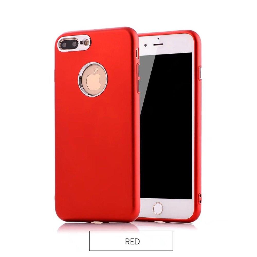 Ультра тонкий ТПУ чехол кожного покрова металлической кнопкой для iPhone 6 6 S 7 8 Plus x