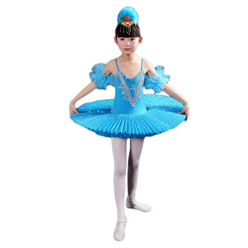 2018 filles gymnastique justaucorps Ballet danse robe blanc cygne lac Costume ballerine robe enfants Ballet robe enfants Ballet