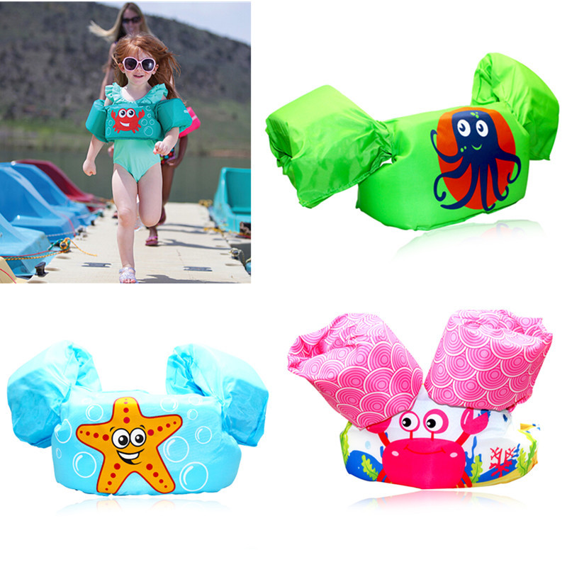 Baby Chileren Arm Ring Save Vest Float Swimsuit Swim Accessories Foam Safety Boy Girl Cartoon Cute Swimsuit Beachwear Drop Ship