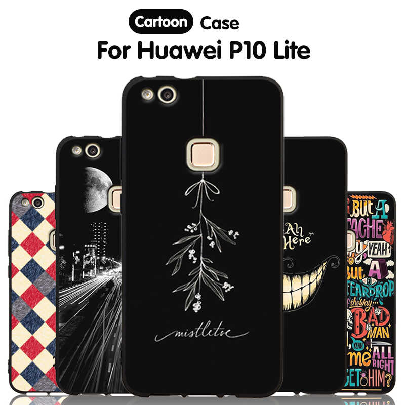 JURCHEN Phone Cover Cases For Huawei P10 Lite Case For huawei p10 lite P10Lite Silicone TPU Back Cover For Huawei P10 Lite Case