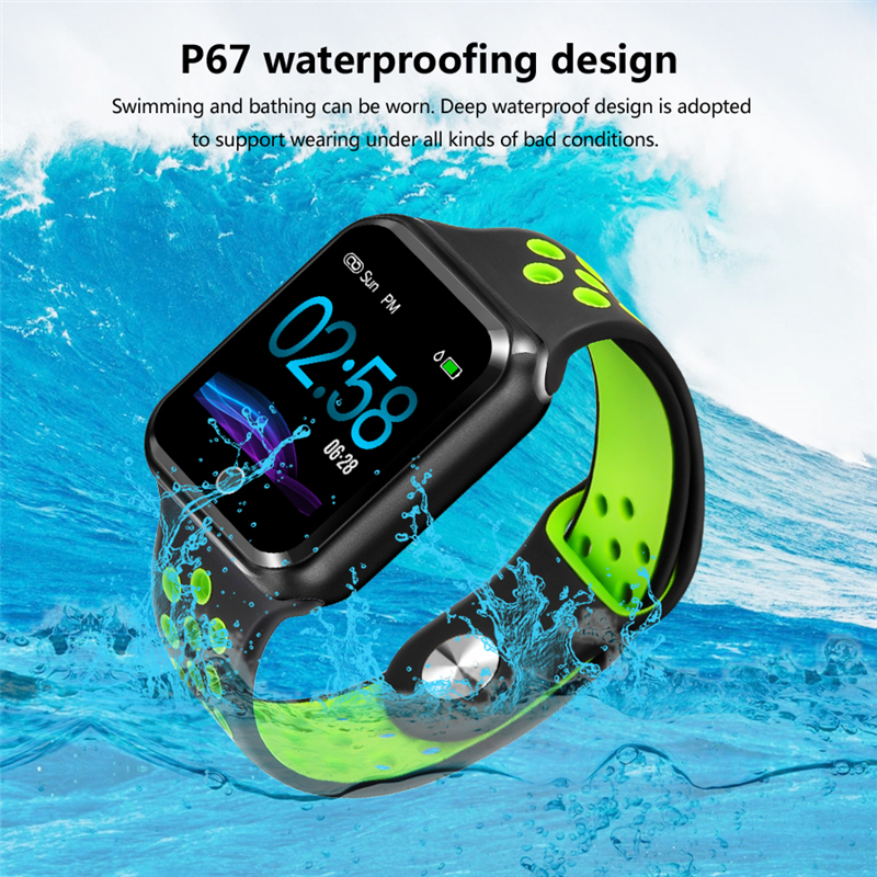 Mens sports smart watch for IOS Android mobile phone Bluetooth heart rate blood pressure monitoring IP67 waterproof smart watchMens sports smart watch for IOS Android mobile phone Bluetooth heart rate blood pressure monitoring IP67 waterproof smart watch