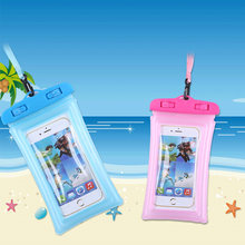 Float Airbag Waterproof Swimming Bag For Samsung Galaxy Grand Prime SM-G531F G530F G530FZ G530Y Phone Case Universal Dry Pouch(China)