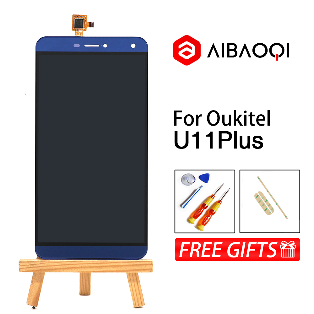 AiBaoQi New Original 5.7 inch Touch Screen+1920x1080 LCD Display Assembly Replacement For Oukitel U11 Plus Android 7.0-in Mobile Phone LCD Screens from Cellphones & Telecommunications    1