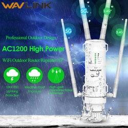 Wavlink Высокая мощность AC1200 открытый беспроводной Wi-Fi ретранслятор AP/wifi маршрутизатор 1200 Мбит/с Dual Dand 2,4G + 5 ГГц длинный диапазон расширитель PoE