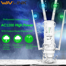 Wavlink High Power AC1200 Outdoor Wireless wifi Repeater AP/WIFI Router 1200Mbps Dual Dand 2.4G+5Ghz Long Range Extender PoE