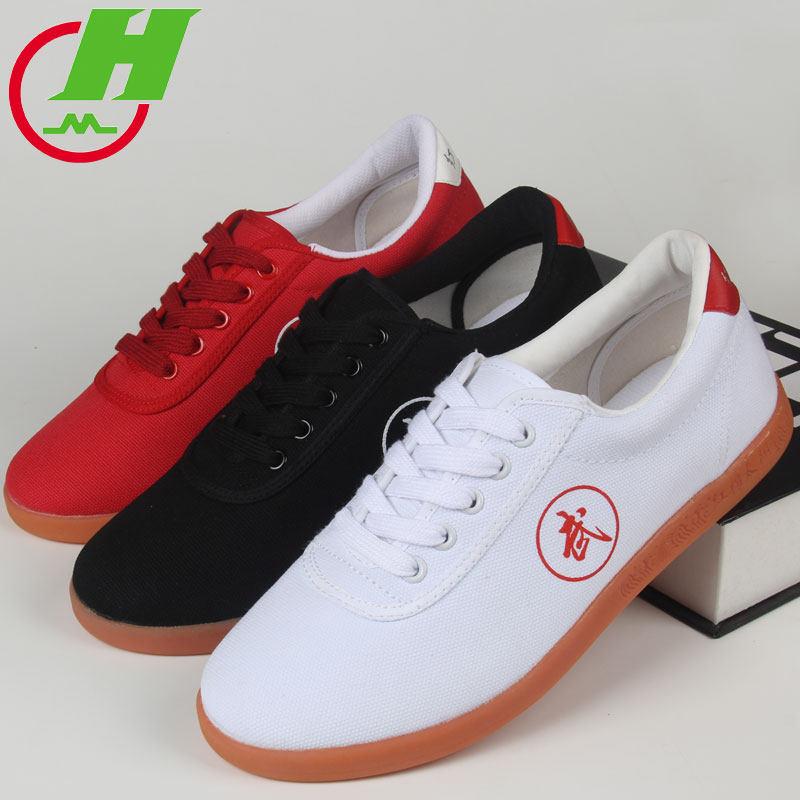 Белые, черные, красные парусиновые брендовые качественные кроссовки для бега кунг-фу ушу тайчи Тай Цзи таиджи тапки для боевых искусств таэквондо обувь