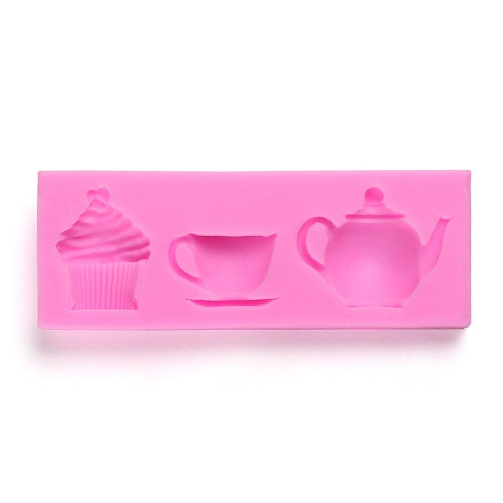 1 Pcs Cake Cookie Mould Mold Silicone Teapot Cup Shape DIY Fondant Kitchen Tool Hot Sale