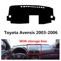 TAIJS car dashboard cover for Toyota Avensis with storage box left hand drive Auto dashboard mat for Toyota Avensis 2003-2006