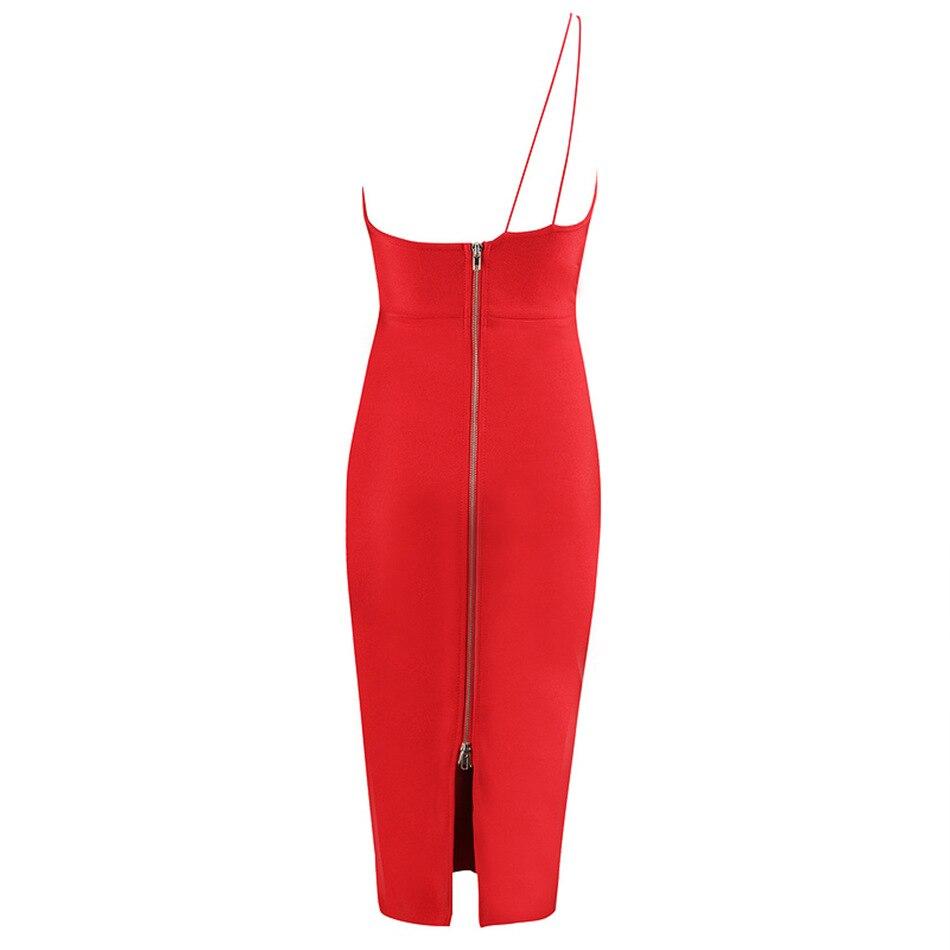 Asymétrique Courroie Fit Slim Dos Nu Sans Manches Gaine Partie Soirée De Clubwear Rouge Moulante Femme Robe Sexy Robes Mode Pour 51wqgtP