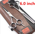 Kasho 5.5 or 6 Inch High Quality Professional Hair Scissors Hairdressing Tools Barber Hair Cutting Shears Set For Haircut Salon