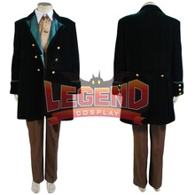 7496de6097 Doctor Who Dziesiąta 8th DR. Garnitur Cosplay Costume Brązowy Garnitur  outfit custom made(China
