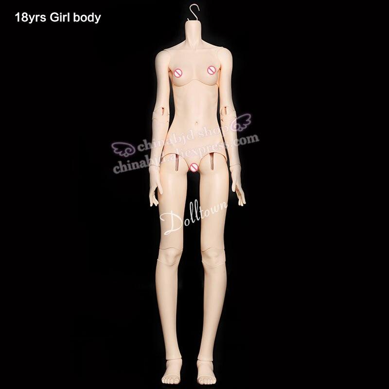 Dolltown 18yrs Girl Body solo para 1/3 BJD SD muñeca resina Material juguete niñas Britbday regalo moda tienda piezas-in Muñecas from Juguetes y pasatiempos    1