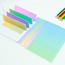 JWHCJ 4 set=(16 sheet letter paper+ 8 pcs envelopes) gradient color Letter pad Set/set writing paper Office&School Supplie