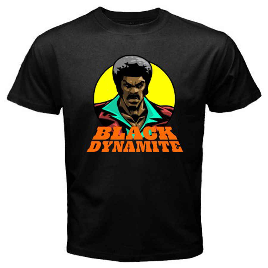 New Black Dynamite Action Comedy Movie Men's Black T-Shirt Size S to 3XLHipster O-Neck Cool Tops image