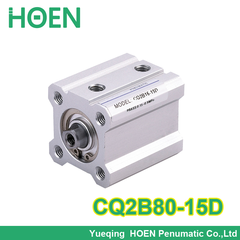 SMC Type CQ2B series CQ2B80-15D  Double Action single rod thin type Pneumatic Compact Cylinder with high quality new original smc type pneumatic compact pneumatic slider cylinder mxh10 15