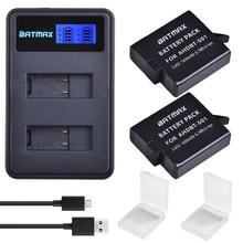 2 шт. для GoPro Hero 5 GoPro Hero 6 7 батарея аккумулятор 1600 мАч + ЖК-дисплей Dual USB зарядное устройство для GoPro Hero5 6 черный Камера Gopro 2018