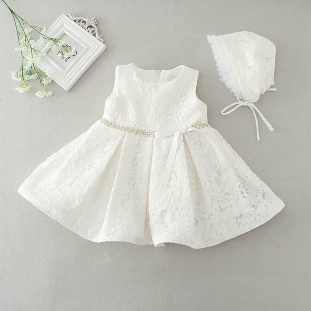 Retail 2016 Newborn Baby Girls Encaje Vestido de la Princesa Primera Boda Vestido de Fiesta de Cumpleaños Del Niño Del Bebé Vestidos de Niña de 2088