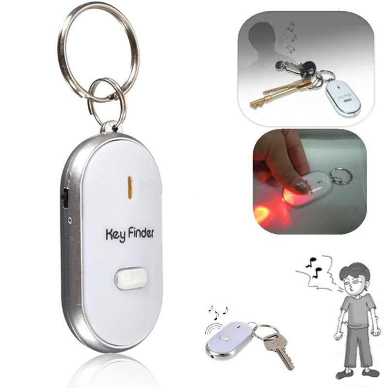 2018 Sale Top Fashion Chain Clef Led Anti-lost Finder Find Locator Keychain Whistle Beep Sound Control Torch Key Ring