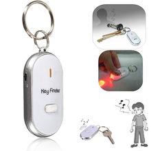 2018 ขาย Top แฟชั่น Clef Led Anti - lost Finder ค้นหา Locator Keychain Whistle Beep Sound Control ไฟฉาย Key แหวน(China)