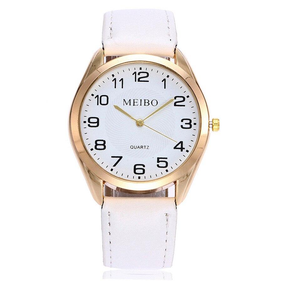 Women Watches Business Style  Roman Numerals Dial Ladies Quartz Wristwatch Movement Casual Leather Strap Clock Montre Femme 2019