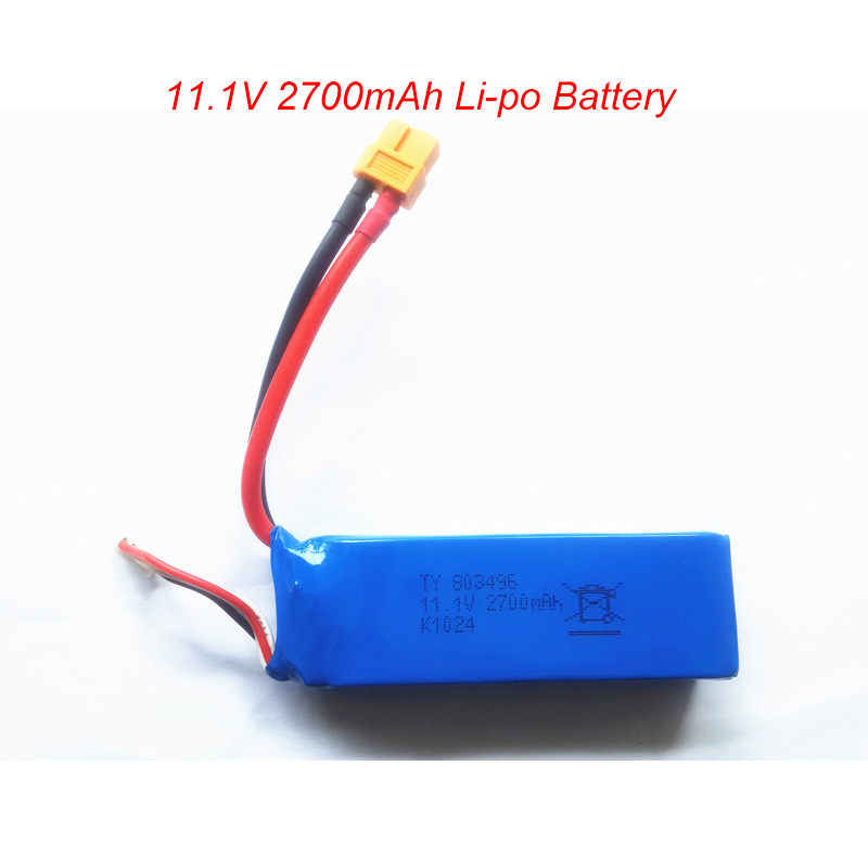 <font><b>Lipo</b></font> 3S <font><b>11.1v</b></font> <font><b>2700mAh</b></font> <font><b>Battery</b></font> For Wltoys X380 V303 V939 Cheerson CX-20 CX 20 <font><b>Lipo</b></font> <font><b>Battery</b></font> RC Quadcopter Drone parts image