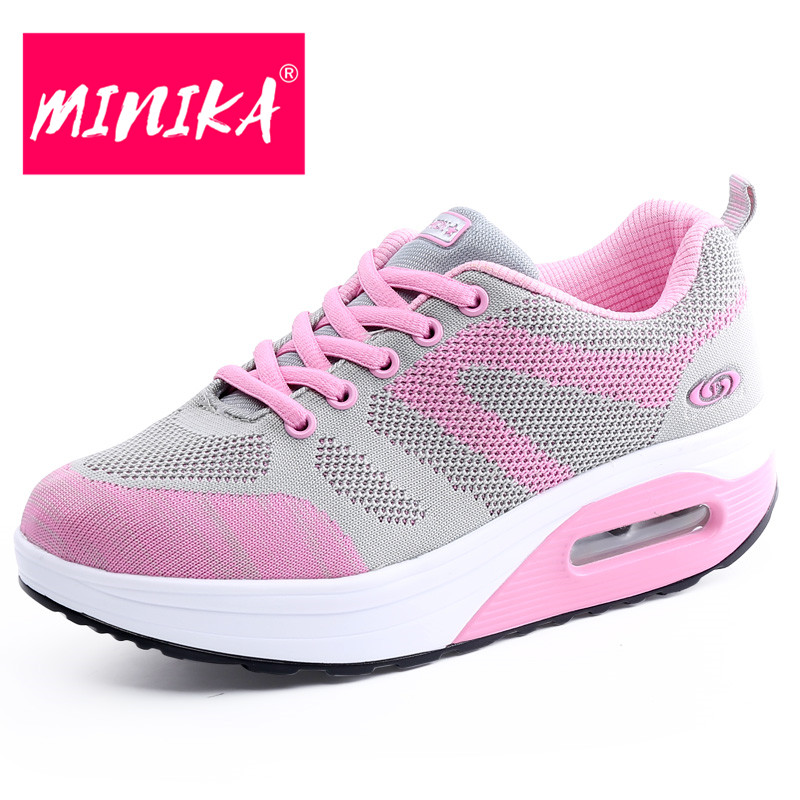 MINIKA Fashion Women Platform Sneakers Super Breathable Lace Up Flat Shoes Women Swing Outsole Comfortable Women Casual Shoes women s shoes 2017 summer new fashion footwear women s air network flat shoes breathable comfortable casual shoes jdt103