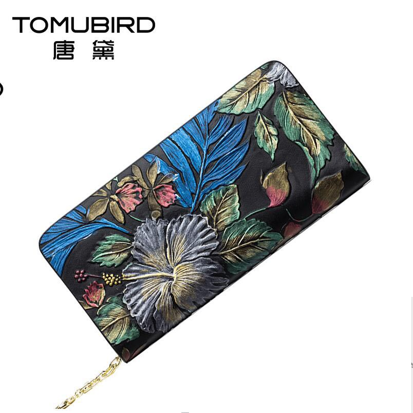 New women genuine leather bag brand fashion quality head layer cowhide dimensional painting retro zipper wallet women clutch bag new leather fashion women s cool slippers head layer cowhide women s slippers