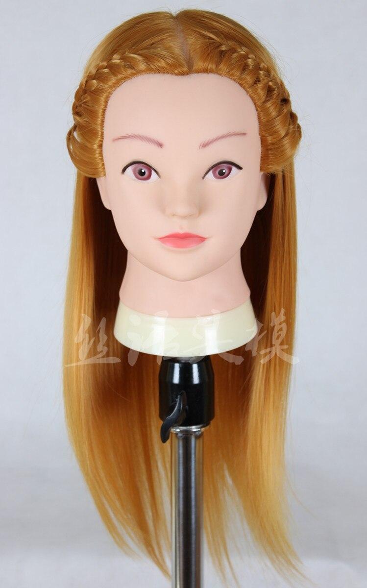 Livraison gratuite!! Tête de Mannequin de cheveux de tête d'entraînement de cheveux avec la tête de modèle de cheveux tête de pratique 2015 populaire