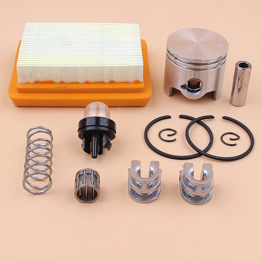 38mm Piston Rings Bearing Air Filter Kit Fit STIHL 020 FS200 FS200R FS202 FS350 FR350 SP200 TS200 Trimmer Parts 4130 790 1316
