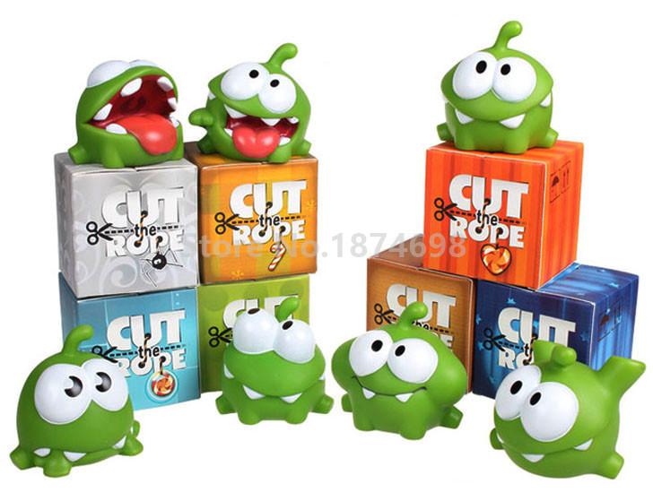 Novo Corte A Corda Om Nom Figuras Brinquedo Conjunto De 7 Peças Bonito Macio Plástico Fabricante Ruído Crianças Brinquedos Presentes Om Nom Figures Om Nomset Toys Aliexpress