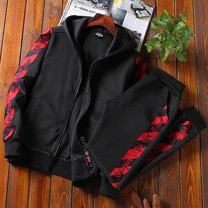 Image 4 - Amberread hommes ensemble de costume de sport printemps mode sweat à capuche + pantalon vêtements de sport deux pièces ensemble survêtement pour hommes vêtements de Fitness