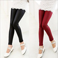 Baby girls Pants high quality girls elasticity skinny leggings kid Pants Imitation leather outwear trousers