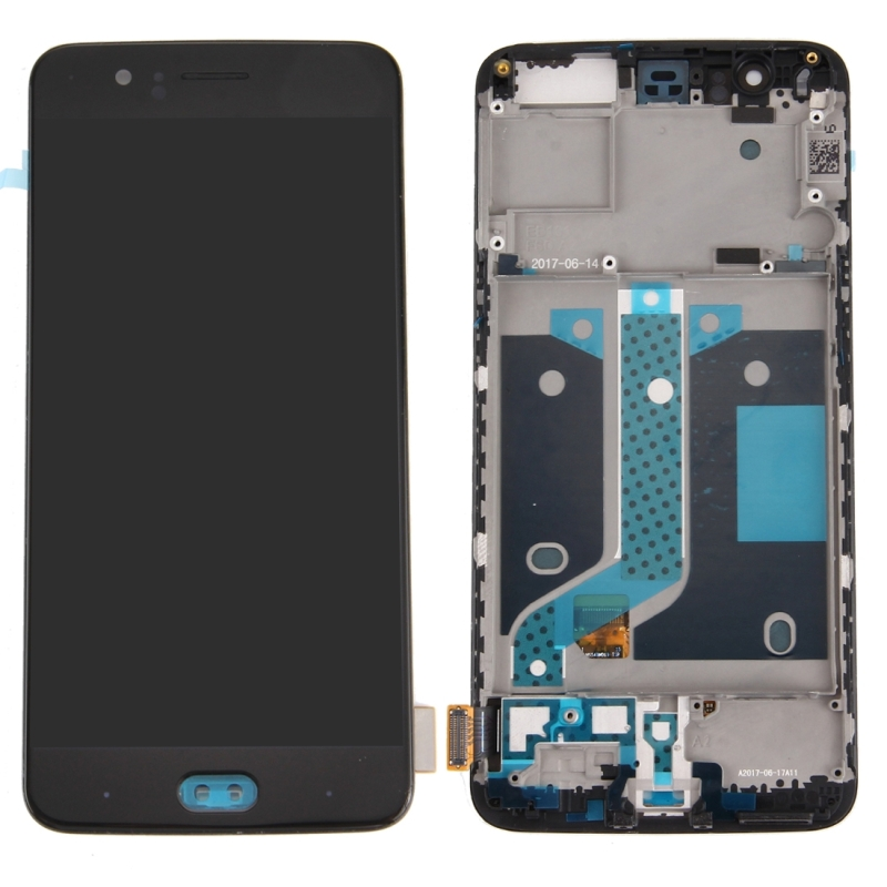 High Quality LCD Screen and Digitizer Full Assembly Lcd Replacement Glass For OnePlus 5 with Frame