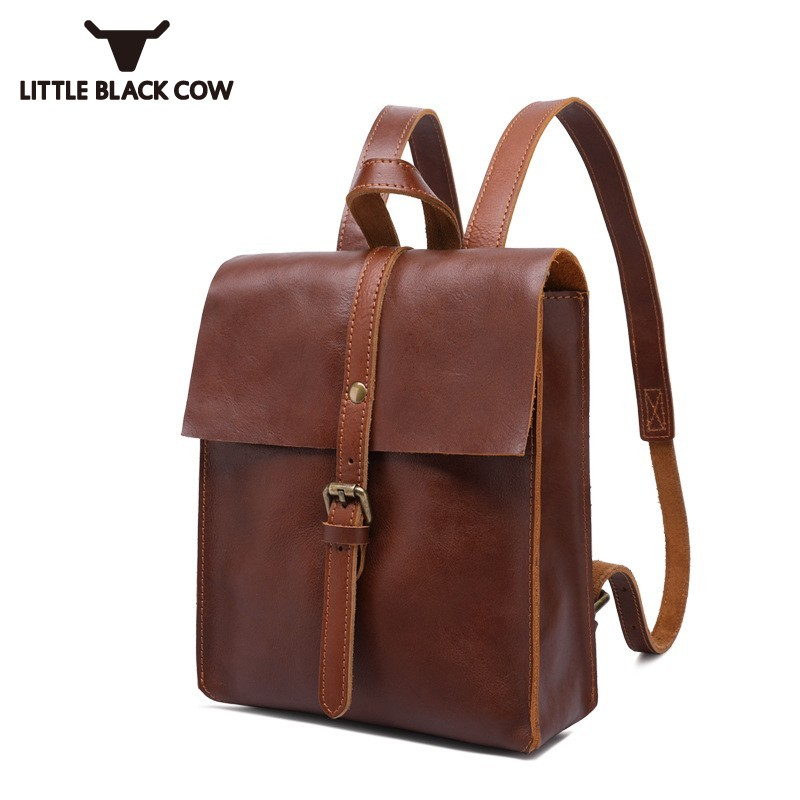 2019 New Genuine Leather Womens Bags Retro Preppy Style School Small Backpack Teenager Girls Travel Laptops Backpacks Female2019 New Genuine Leather Womens Bags Retro Preppy Style School Small Backpack Teenager Girls Travel Laptops Backpacks Female