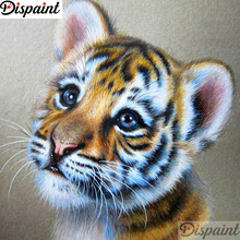 Dispaint Full Square/Round Drill 5D DIY Diamond Painting Animal tiger scenery 3D Embroidery Cross Stitch Home Decor A11948