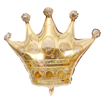 1pcs Large gold crown aluminum film balloon baby 100 days birthday party decoration Wedding background decorations