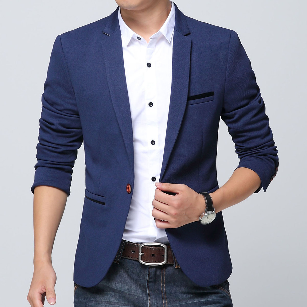 2018 Designer Men Suit Jackets Autumn Slim Blazer Masculino Casual Blazer Men High Quality ...
